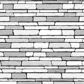 White Brick Pattern - vector gratuit #210607