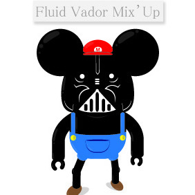 Fluid Vador Mix Up - vector gratuit #210697