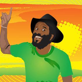 Reggae Man - vector gratuit(e) #210707