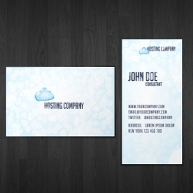 Hosting Business Card - бесплатный vector #210747