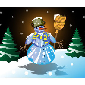 Snowman Free Vector - Free vector #210787