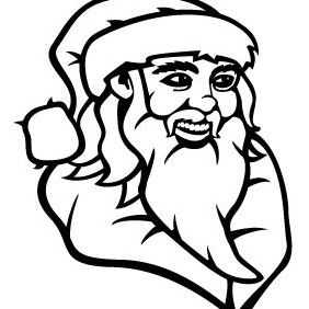 Santa Claus Drawing Vector - vector gratuit #210807