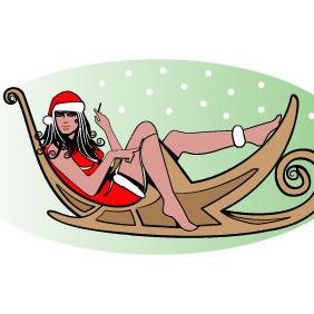 Sexy Santa Vector Image - Free vector #210817