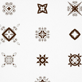 10 Abstract Decorative Free Vector Elements - бесплатный vector #211047