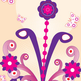Hippy Flower - Free vector #211097