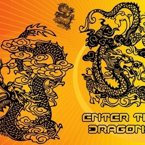 Chinese Dragons - Free vector #211147