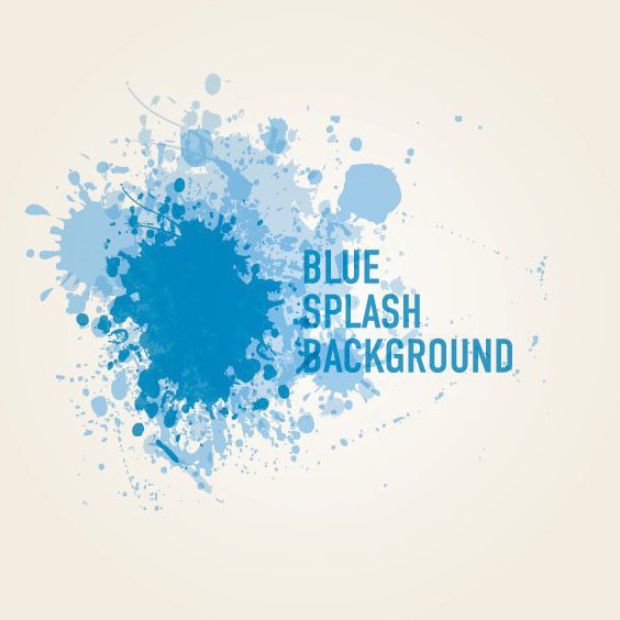 Fundo azul Splash - Free vector #211197