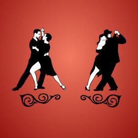 Tango Dancing - Free vector #211227