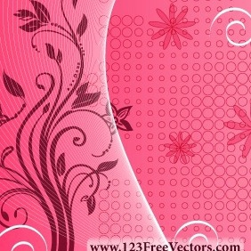 Pink Floral Background - Free vector #211257
