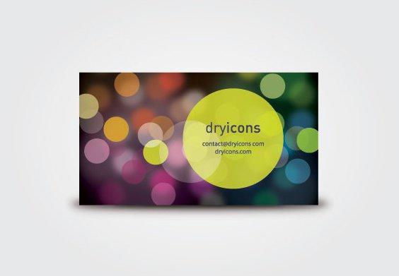 Defocused Lights-Visitenkarte - Kostenloses vector #211287