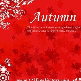 Free Autumn Background Vector - Free vector #211307