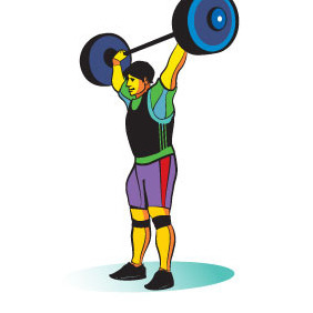 Weight Lifter Vector Image - Free vector #211587