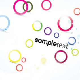 Colored Sample Circles Abstract Vector - vector #211677 gratis