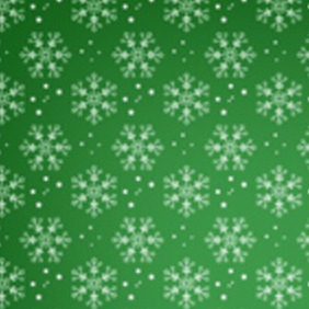 Red And Green Snowflake Vector Pattern - vector gratuit #211687