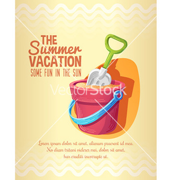 Free summer vacation background vector - Free vector #211787