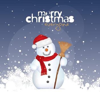 Christmas Snowman - Free vector #211817