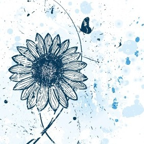 Vector Flower Watercolor Background - Kostenloses vector #211867