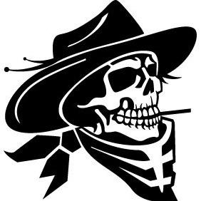 Cowboy Skull Vector - Free vector #211907