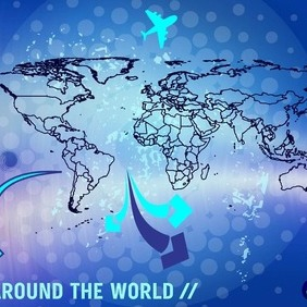 World Travel - vector gratuit #211927