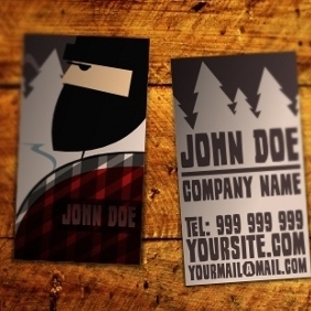 Wood Industry Business Card - vector #212037 gratis