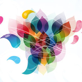Abstract Colored Art Free Background - Free vector #212057