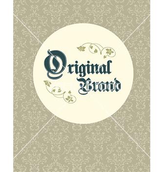 Free vintage original brand vector - Kostenloses vector #212187