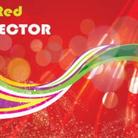 The Red Dotted Art Abstract Vector - Free vector #212277