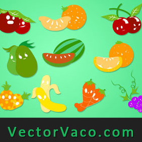 Fruit Vectors - vector gratuit #212287