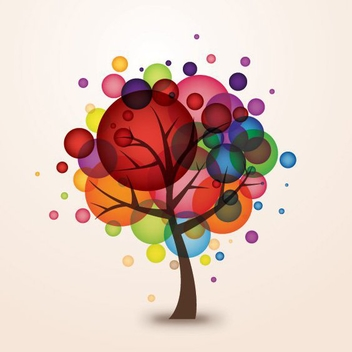 Balloon Tree - vector gratuit #212337