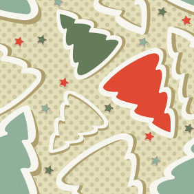 Free Christmas Seamless Pattern - бесплатный vector #212417