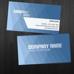 Blue Business Card Template - Free vector #212467