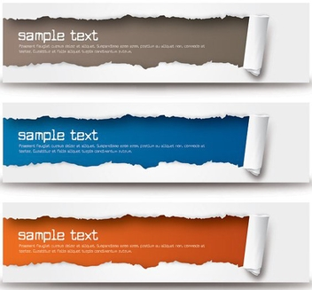 Ripped Banners - vector gratuit #212487