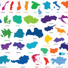 Europe Countries - vector #212557 gratis