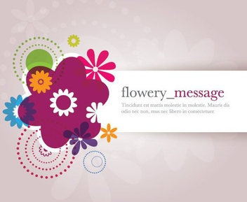Flowery Message - vector gratuit #212677