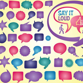 Speech Bubble Vectors - Free vector #212717