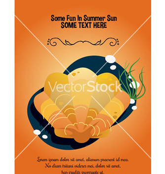 Free sea shell document template vector - Free vector #212777