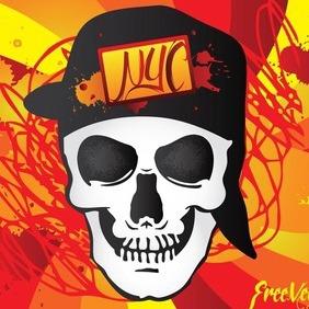 Urban Skull - Free vector #212927