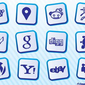 Social Web Logo - Free vector #212967