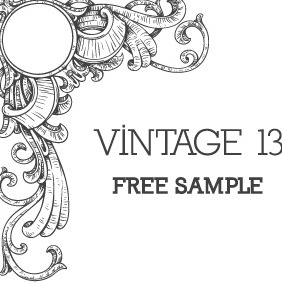Vintage Floral Free Sample - Free vector #212987