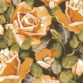Seamless Vintage Rose Pattern - vector gratuit #213077