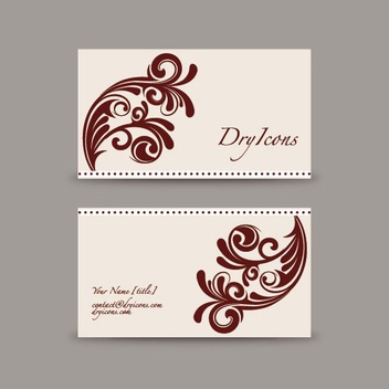 Swirly Design Business Card - Kostenloses vector #213097