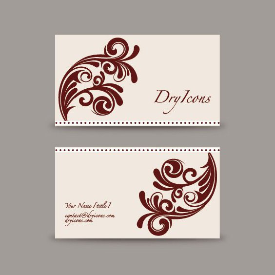 Swirly Design Business Card - Free vector #213097