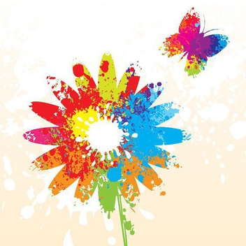 Colorful Summer Flower - vector gratuit #213237