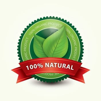 Organic Label - vector #213337 gratis