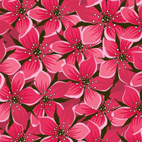Red Flower Pattern - vector #213377 gratis