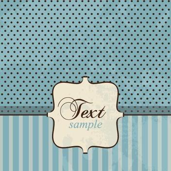 Vintage Card - Kostenloses vector #213447