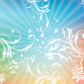Swirly Lined Colorful Vector Background - Free vector #213517