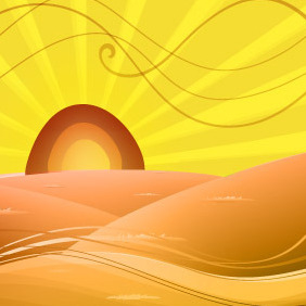 Cartoon Distorted Desert - Free vector #213577