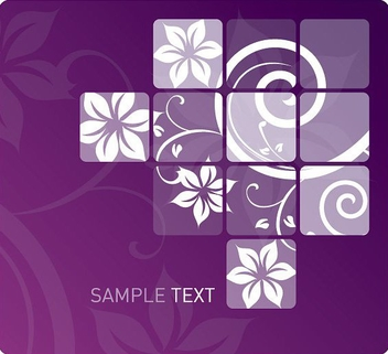 Swirly Flower Design - vector gratuit #213617