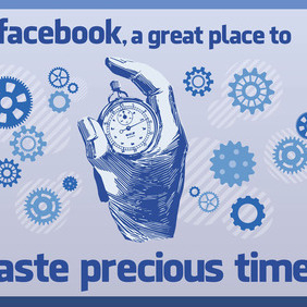 Facebook Time - vector gratuit #213647